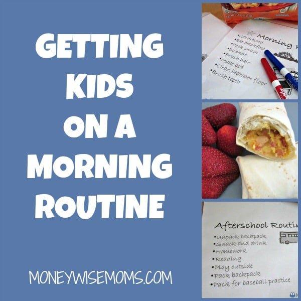 Getting Kids on a Morning Routine | MoneywiseMoms