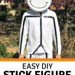 Tween DIY stick figure costume