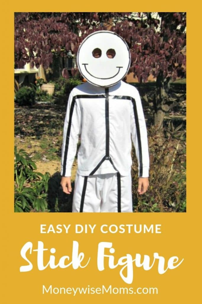 Easy DIY Halloween Costume - be a stick figure
