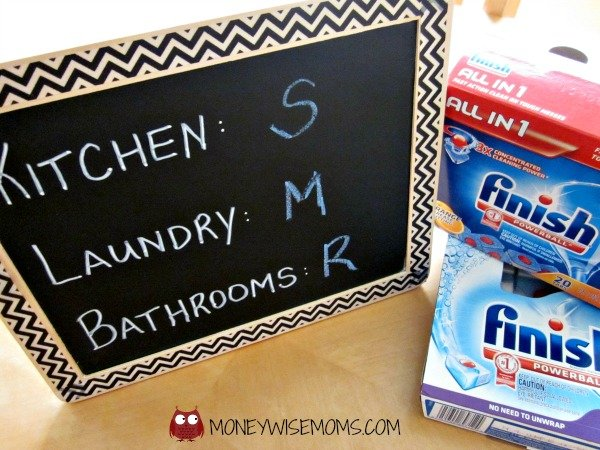 Kids Chore Chart with Finish Dishwasher Detergent