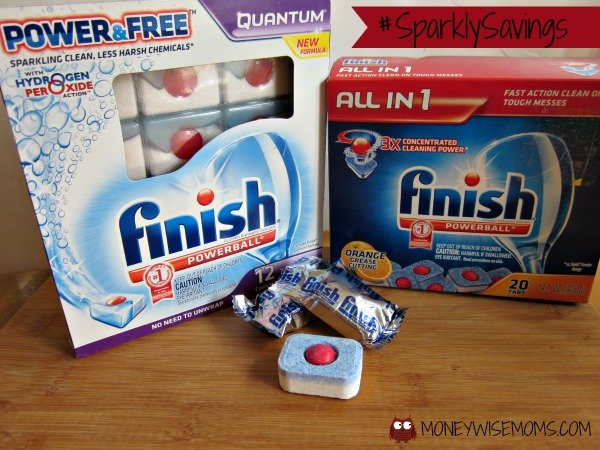#SparklySavings with Finish Tabs dishwasher detergent | MoneywiseMoms