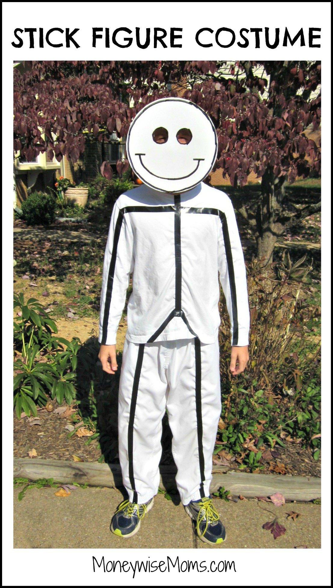 Stick Figure Costume for Halloween
