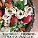 Tortellini Chickpea Pasta Salad {Cookbook Giveaway}