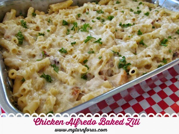 Chicken Alfredo Baked Ziti from My Turn for Us | Easy Casserole Recipes | MoneywiseMoms