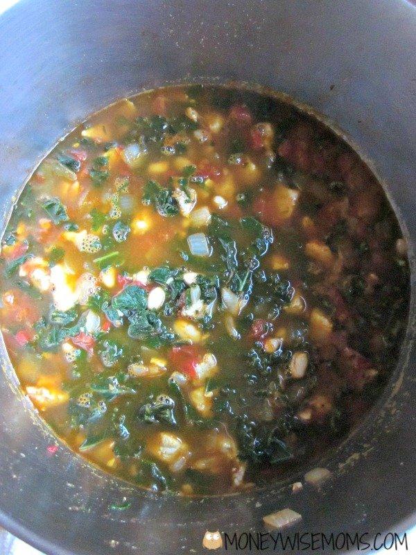 Pork White Bean Kale Soup with Smithfield Marinated Pork | MoneywiseMoms