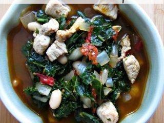Pork, White Bean & Kale Soup