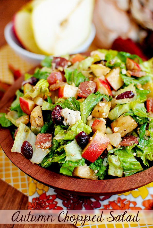 Autumn Chopped Salad from Iowa Girl Eats | Easy Thanksgiving Side Dishes | MoneywiseMoms