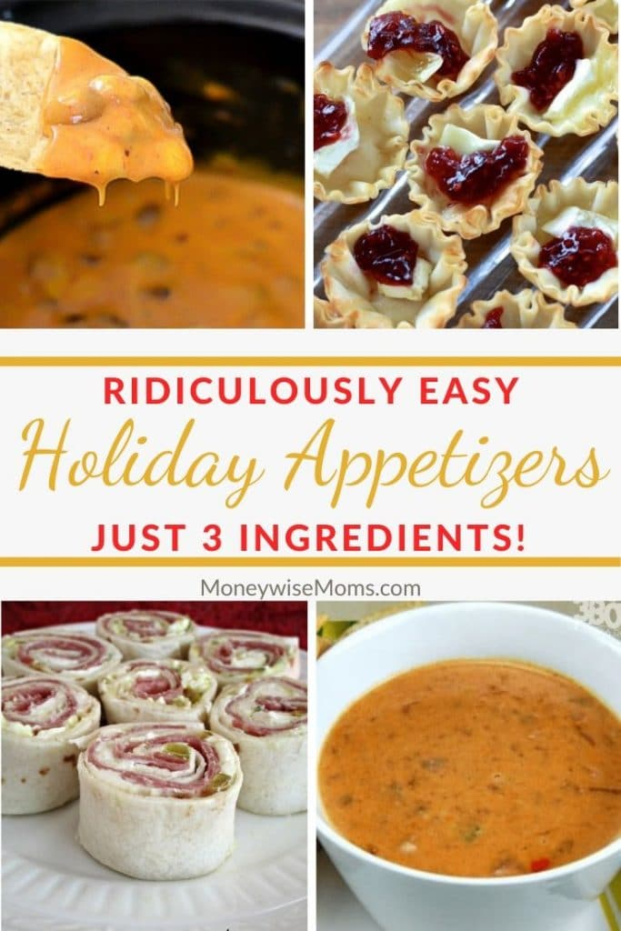 3 ingredient Easy Holiday Appetizers Recipes