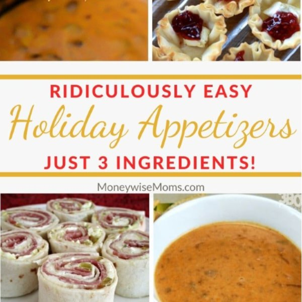 Easy Holiday Appetizers that need only 3 ingredients