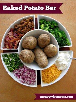 Baked Potato Bar |Top Posts of 2014 | MoneywiseMoms