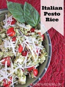 Italian Pesto Rice   #MinuteHoliday   MoneywiseMoms