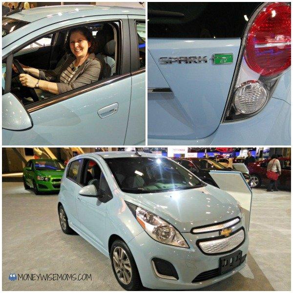 Chevy Spark EV at the Washington Auto Show | MoneywiseMoms
