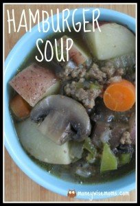 Hamburger Soup | easy frugal crockpot slow cooker meal | MoneywiseMoms