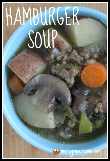 Hamburger Soup | easy frugal crockpot slow cooker meal | MoneywiseMoms