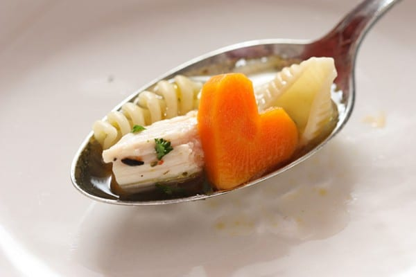 Heart Shaped Carrots in Soup   Healthy Valentine Food for Kids   MoneywiseMoms