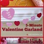 5-Minute Valentine Garland