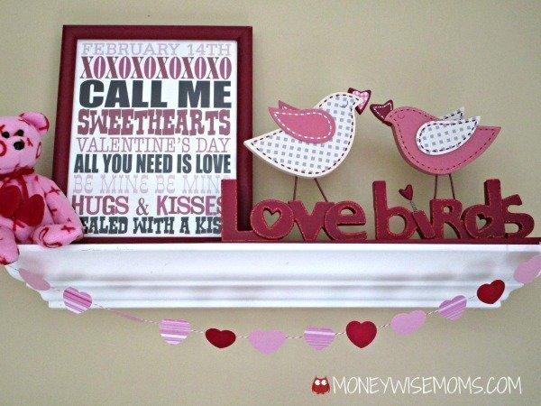 5-minute Valentine Garland | easy Valentine's Day decor | MoneywiseMoms