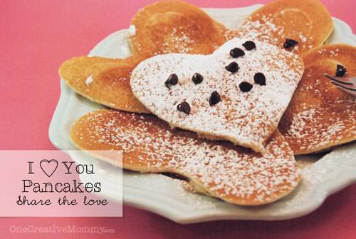 Valentine Shaped Pancakes | Healthy Valentine Food for Kids | MoneywiseMoms