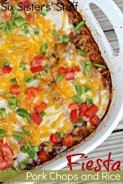 Fiesta Pork Chops and Rice Bake from Six Sisters Stuff   Homemade Taco Seasoning
