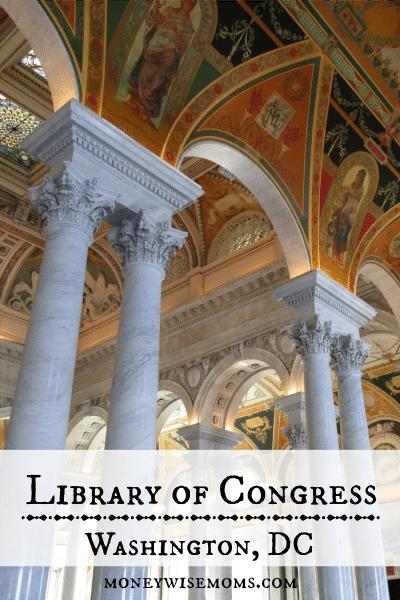 Library of Congress in Washington DC #familytravel - MoneywiseMoms