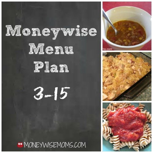 Moneywise Menu Plan 3/15: Eating from the Freezer