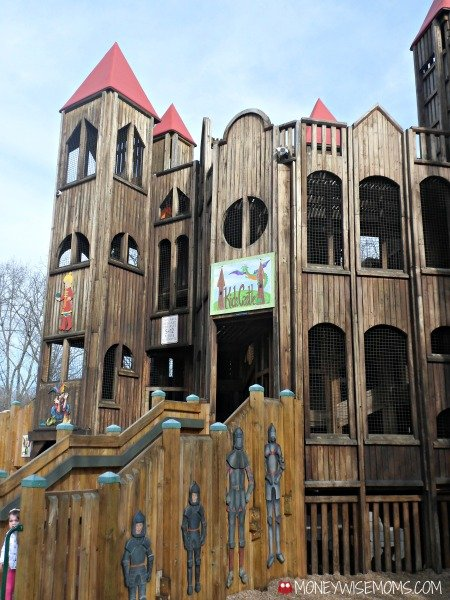 Kids Castle Playground in Doylestown PA #familytravel