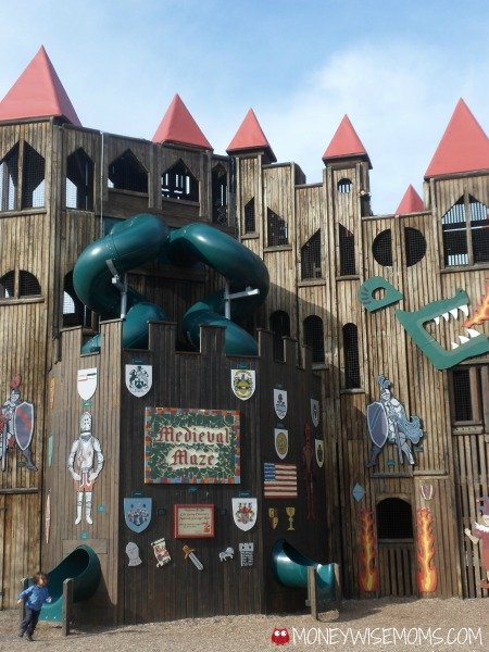 Slides at Kids Castle Playground in Doylestown PA #familytravel