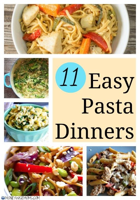 Easy Pasta Dinner - quick and healthy meals for busy summer nights | MoneywiseMoms