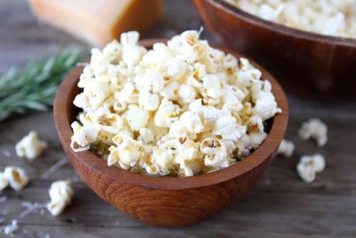 Garlic Rosemary Parmesan Popcorn from Two Peas and Their Pod |
