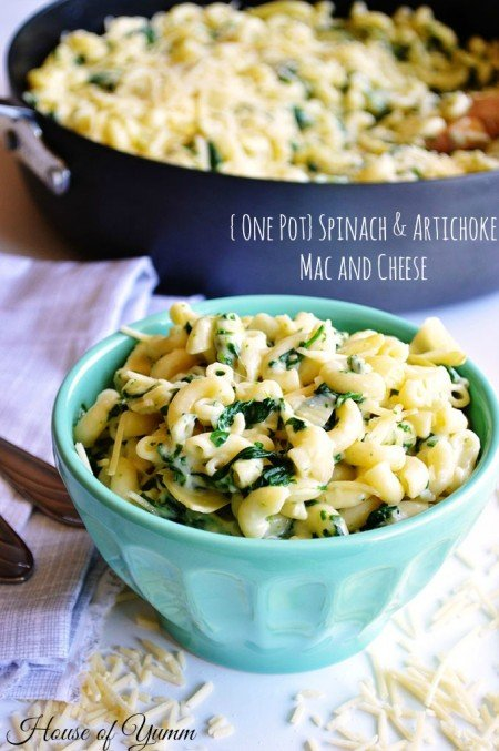 Spinach Artichoke Mac and Cheese from House of Yumm | Easy Pasta Dinners