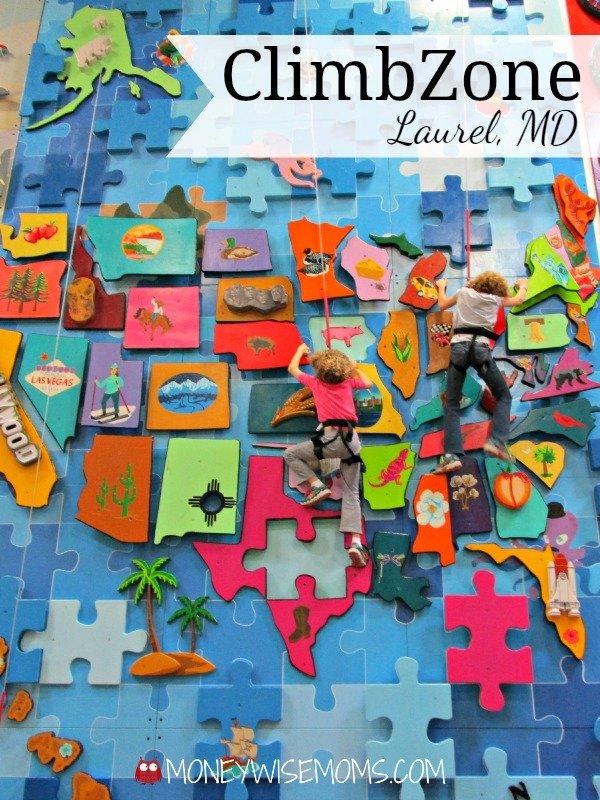 ClimbZone Laurel MD #familytravel