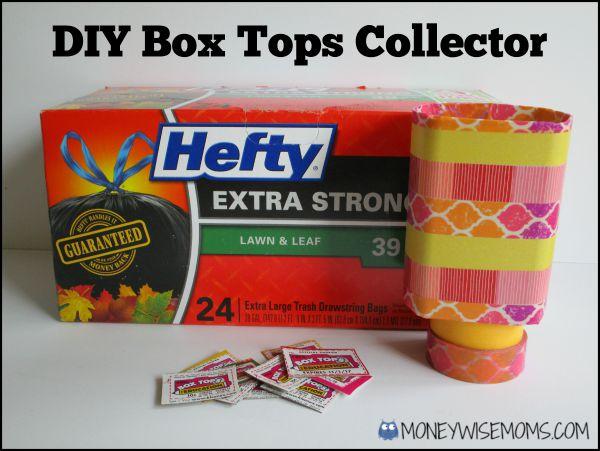 DIY Box Tops Collector   #Hefty4BoxTops