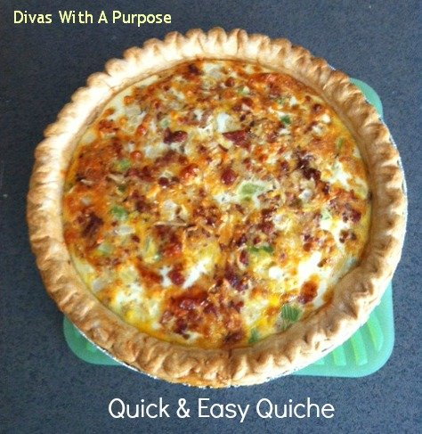 Quick and Easy Quiche from Divas with a Purpose