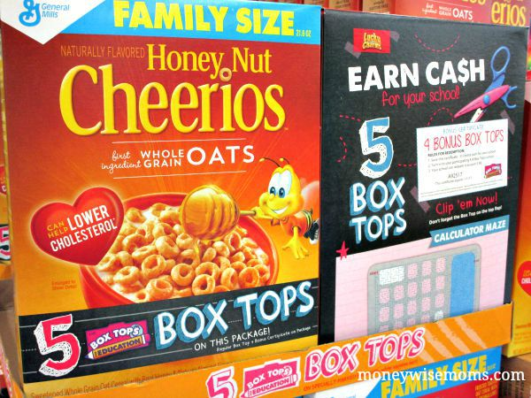 Bonus Box Tops on Honey Nut Cheerios