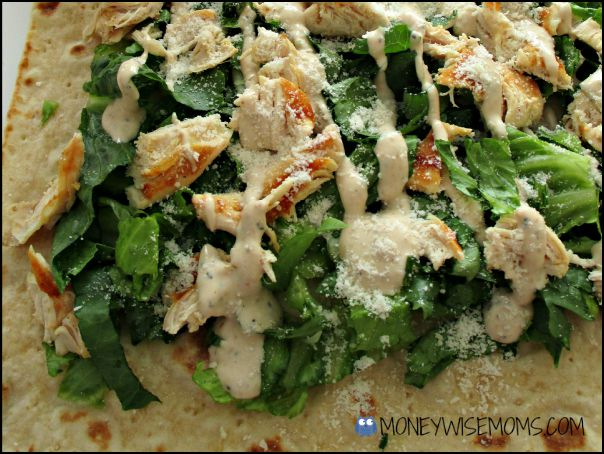 Chicken Caesar Wraps | School Lunch Roundup Chicken Edition | MoneywiseMoms
