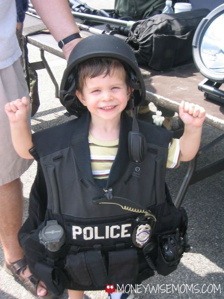 My son as a policeman in 2006   Reasons I think my son is an alien