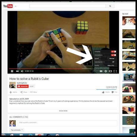 YouTube Rubiks Cube video