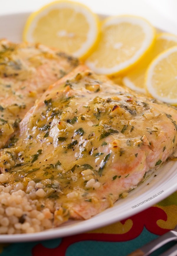 Baked Salmon with Honey Dijon and Garlic from Table for Two | Super Salmon Recipes