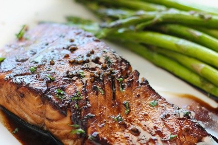 Balsamic Glazed Salmon from The Cooking Jar | Super Salmon Recipes