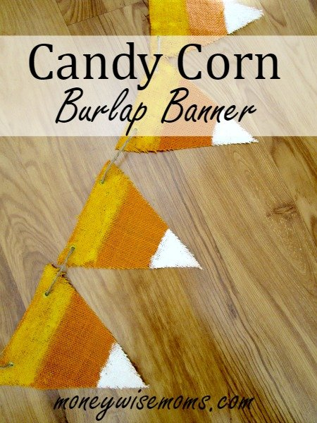 Candy Corn Burlap Banner - easy to make for under $5