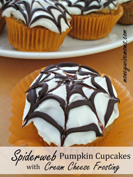 These Spiderweb Pumpkin Cupcakes with Cream Cheese Frosting start with a jazzed-up box cake mix and finish with an amazing homemade frosting. Zippy and zesty flavor all around!