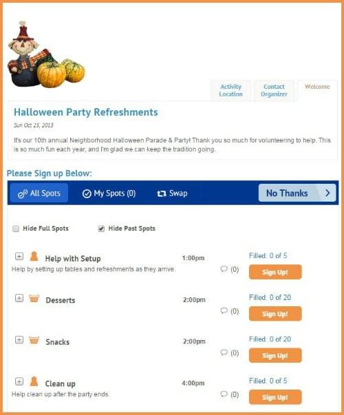 VolunteerSpot Halloween Party