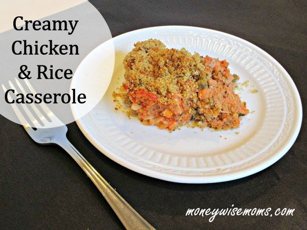 Creamy Chicken and Rice Casserole | Easy comfort food