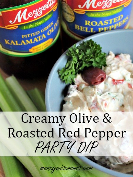 Creamy Olive Roasted Red Pepper Party Dip   easy cream cheese-based dip perfect for any holiday party