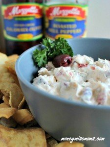 Creamy Olive & Roasted Red Pepper Party Dip