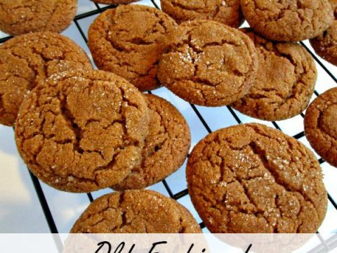 Old Fashioned Soft Molasses Cookies