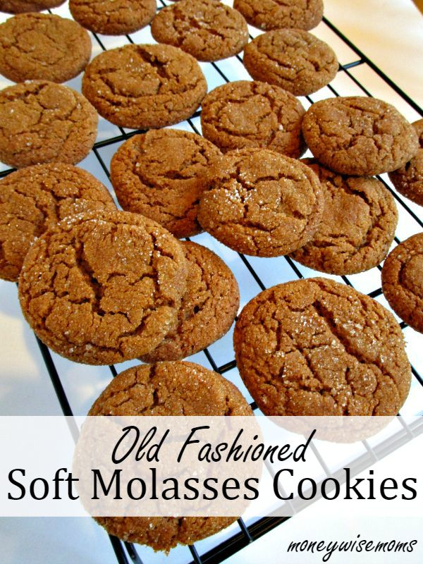 Old Fashioned Soft Molasses Cookies Moneywise Moms