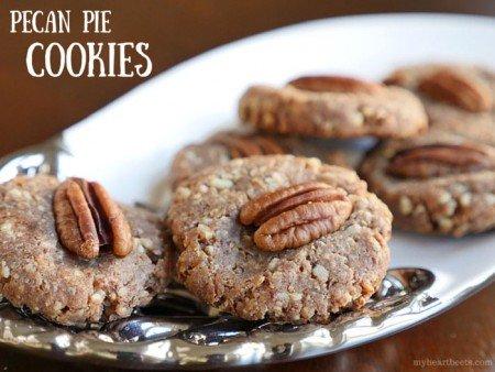 Pecan Pie Cookies from My Heart Beets | 3-Ingredient Holiday Cookies