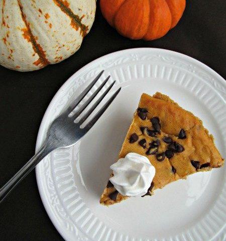 Pumpkin Chocolate Chip Cheesecake