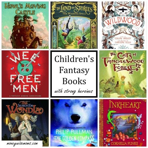Childrens Fantasy Books with Strong Heroines | Great reads for 8-12 year olds who love fantasy books. These all have strong female main characters and come highly recommended by my kids!